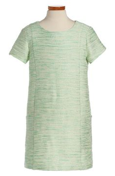 Soprano Tweed Shift Dress (Big Girls) at Nordstrom.com. Roomy side pockets add a touch of casual charm to a short-sleeve shift woven through with shimmery metallic threads.