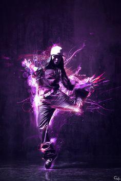 purple & electric - fun & dancing