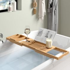 Now that's what we call a winter warmer! With the addition of a handy bath rack there's no limit to how long we could spend soaking in the tub. Search for Bathtub Shelf, Wood Bathtub, Bathtub Tray, Bathtub Caddy, Hanging Shower Caddy, Bath Rack, Bathroom Caddy, Standing Shower, Bamboo Bathroom