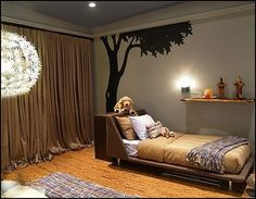 woods theme decor | IKEA MASKROS Art Ceiling Lamp - Light adds decorative patterns