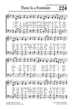 Baptist Hymnal 2008 There is a fountain filled with blood Gospel Bible, Bible Songs, Gospel Music, Christian Song Lyrics, Christian Music, Music Sing, Music Love, Old Time Religion, Church Songs