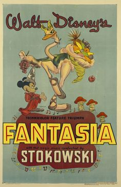 Fantasia (1940) [1946 re-release poster].