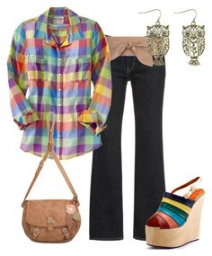 Camisas a Cuadros by outfits-de-moda2 on Polyvore featuring moda, Old Navy, Irregular Choice, Nica and MANGO
