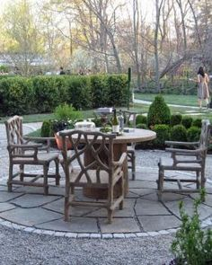 rustic patio set