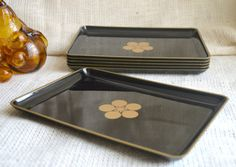 Black and Gold snack tray // vintage party by TrellisLaneVintage