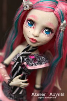 OOAK Custom Monster High Repaint - Girls' Night Out Rochelle by Azyntil on Etsy, $90.00