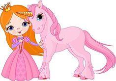 Princess Unicorn Edible Frosting Sheet Birthday Cake Cupcake