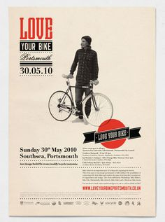 love your bike, page layout, poster