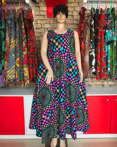 Kinte long dress for women's / African print long dress for women's / Ankara causal long dress for women's / kinte summer dress African Dresses For Kids, African Maxi Dresses, Latest African Fashion Dresses, African Print Fashion, African Attire, Vitenge Dresses, Summer Dresses, Shweshwe Dresses, Summer Outfits Women