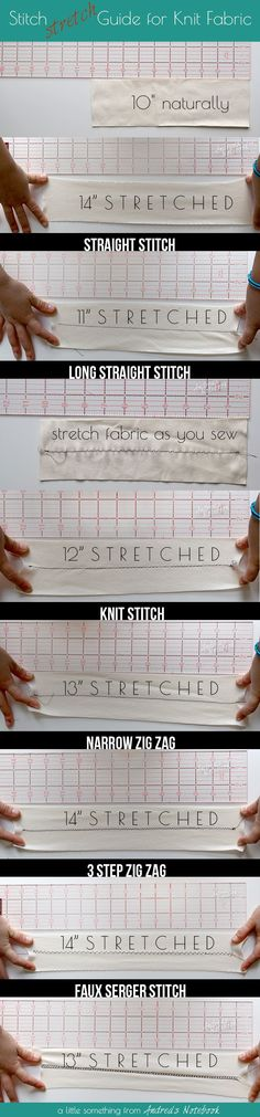 Sewing machine stitches on knit fabric. Which is the best to use?
