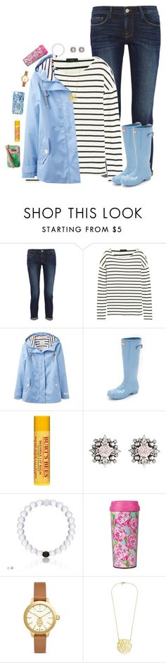 """read the description for life updates"" by preppy-ginger-girl on Polyvore featuring Frame Denim, J.Crew, Joules, Hunter, Burt's Bees, DANNIJO, Lilly Pulitzer and Tory Burch"