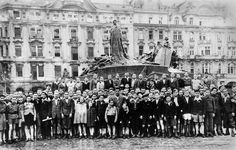 Group of the Jewish children who had just been liberated from concentration camps Czechoslovakia - Praha (Prague), 1945