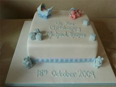 Christening Cake made by Charlotte's Cakes in Maidstone - love this, inspiration for our own Charlotte Cake, Chocolate Party, Celebration Cakes, Celebrity Weddings, How To Make Cake, Christening, Desserts, Inspiration, Food