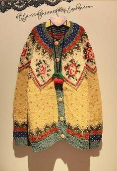 大毛衣,妈妈手织的感觉 inspiration