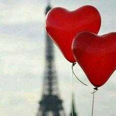 Two ballon hearts