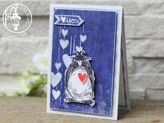 Katzelcraft Grumpy Penquins; Valentine card