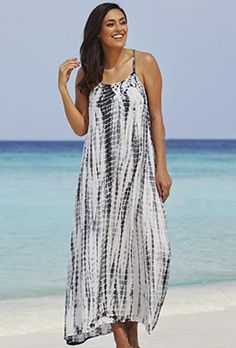 Cover Ups Promo Exclusion - Nautical Tie Dye Maxi Dress