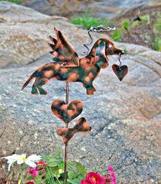 Dachshund Dog Memorial Yard Art Copper Metal Garden Stake /  Pet Loss Grave Marker / Sympathy Gift / Metal Garden Art
