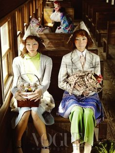 """The Terrier and Lobster: """"Country Song"""" in Vogue Korea Vogue Korea, Colorful Fashion, Asian Fashion, Fashion Images, Fashion Models, Korea Country, Minimal Photo, Vogue Magazine Covers, Korean Hanbok"""