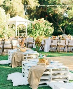 When some bride out there in the wedding world puts together a small army of crazy talented vendors to create a picnic wedding or a BBQ wedding, there are bound to be some stellar ideas that come out Laid Back Wedding, Mod Wedding, Rustic Wedding, Wedding Ideas, Wedding Planning, Fall Wedding, Wedding Shot, Quirky Wedding, Forest Wedding