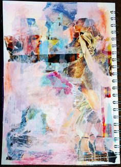 Mixed media sketchbook page