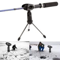 Professional Fishing Portable Pole Rest Holder Support Rod Ground Stand Supplies