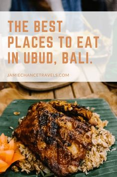Not only a cultural hub, Ubud has a thriving foodie scene. Here I bring together the best places to eat in Ubud that you absolutely have to visit! Smashed Avocado On Toast, Healthy Cafe, Pig Roast, Western Food, Indonesian Food, Best Places To Eat, Ubud, Healthy Options, International Recipes