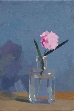 Pink Carnation Philip Richardson Oil on canvas - 12 x 8 ins Painting Still Life, Still Life Art, Art Floral, Painting Inspiration, Art Inspo, Gouache Painting, Pink Painting, Abstract Oil Paintings, Oil Painting Flowers