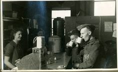 The largest volunteer organisation in British history is known to many as 'the army Hitler forgot'. Pictured is a WVS volunteer serving tea and coffee to soldiers in Cambridge
