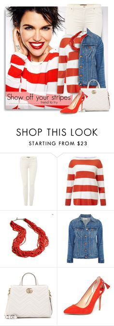 """""""Totally on trend!"""" by breathing-style ❤ liked on Polyvore featuring 7 For All Mankind, Gerry Weber, Madewell, Gucci and Dorothy Perkins"""