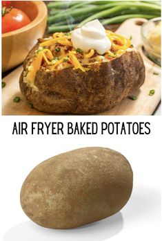 Air Fryer Baked Potatoes, Easy, Fast and the best way to make potatoes in the air fryer. Dried Potatoes, Russet Potatoes, Moola Saving Mom, Air Fryer Baked Potato, Making Baked Potatoes, Perfect Baked Potato, Air Fryer Recipes, Fries, Healthy Eating