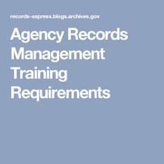 Records Management University  Free Online Course  Records
