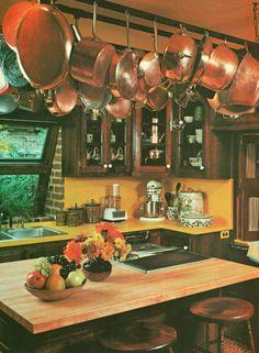1970s kitchen design from Architectural Digest | Retro Interiors ...