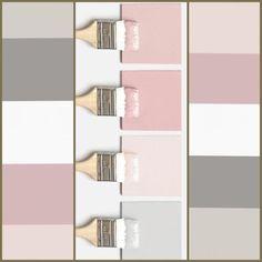 Paleta de cores que amooo! Mas claro que cada projeto tem seus difer. - COLOR : Paleta de cores que amooo! Mas claro que cada projeto tem seus difer. Paint Colors For Living Room, Paint Colors For Home, Room Paint, Bedroom Colors, House Colors, Bedroom Decor, Paint Paint, My Room, Girl Room