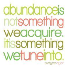 abundance.