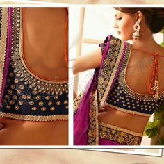 Natasha Couture Exclusive Opulent Lehenga Sarees 2014 for Bridals South Indian Blouse Designs, Bridal Blouse Designs, Dress Designs, Saree Blouse Patterns, Saree Blouse Designs, Indian Attire, Indian Outfits, Choli Designs, India Fashion