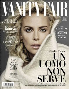 Charlize Theron looks gorgeous in a cover story for the November 2016 issue of Vanity Fair Italia. V Magazine, Vanity Fair Magazine, Fashion Magazine Cover, Fashion Cover, Magazine Cover Design, Magazine Covers, Italy Magazine, Fashion Pics, Fashion Models