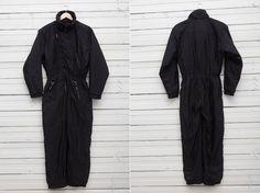 1980s Black Skirwear Onepiece Snow Suit by V de V by CoverVintage, $69.00