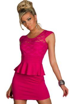 Robes Peplum Sunflower Lace Cut Out Retour Robe Roseo Work Dresses For Women, Girly, Dress Outfits, Peplum Dresses, Lace Bodice, Dresses Online, Work Wear, Vogue, Feminine
