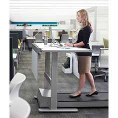 While you can go out and get yourself a treadmill desk, an active workplace doesn't necessarily mean constant movement. http://www.yliving.com/blog/modern-active-office-furniture/