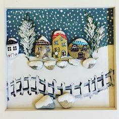 #gifts #taşboyama #handmade #snow #stonepainting #stoneart #rockpainting #painting #love