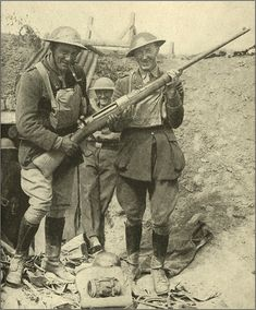 Captured German Anti-Tank Rifle - WW1