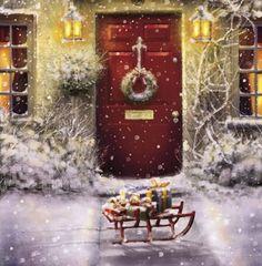 Red Door and White Christmas at FramedArt.com