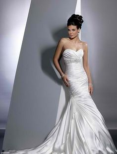 maggie sottero wedding dress modified a-line | Bridal Gowns: Maggie Sottero Mermaid Wedding Dress with Strapless ...