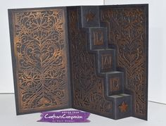 Stairway Card made using Crafter's Companion Die'sire Create a Card – Designed by Rach Webber. #crafterscompanion