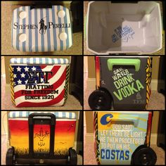 Painted cooler penn state sea isle city fishing boats masters