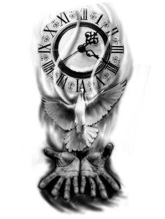 Desenhos preto e cinza Armband Tattoo Design, Clock Tattoo Design, Forarm Tattoos, Hand Tattoos, Mommy Tattoos, Tattoos For Guys, Half Sleeve Tattoos Designs, Tattoo Designs, Tattoo Sketches