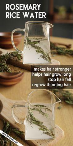 ROSEMARY RICE WATER for longer, stronger hair - The Little Shine