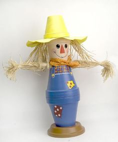 scarecrow people would be so cute for a tabletopper at a country wedding or for fall celebrations at church.