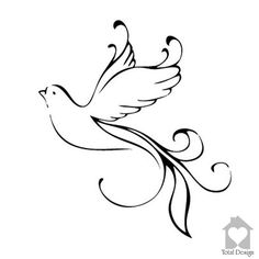 Flying Dove Beautiful Home Wall Art Decal - White Love Dove Vinyl Decor - Wall Art Sticker 1154_
